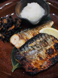 Geroosterde vissenfilet Stock Foto's