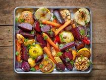 Geroosterde vruchten en groenten royalty-vrije stock foto's