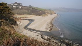 Gerrans Bay beach Cornwall England UK Royalty Free Stock Photography