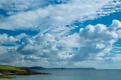 Gerrans Bay Cornwall, with big sky Royalty Free Stock Photography