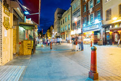 Gerrard street at night. LONDON - SEPTEMBER 08: Night view of the famous Gerrard street which is the main street of London's chinatown at night on September 8th Royalty Free Stock Image