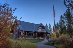 Mesa Falls Visitor Center. Gerrit, Idaho, USA - September 30, 2016 : The Mesa Falls Visitor Center in the evening stock photos