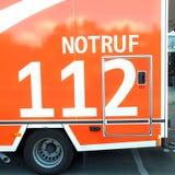Gerrman ambulance car 112 stock photo