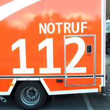 Gerrman ambulansowy samochód 112 Zdjęcie Stock