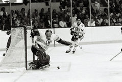 Gerry Cheevers Boston Bruins Stock Image