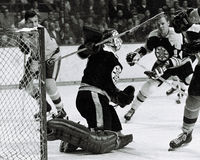 Gerry Cheevers Boston Bruins Foto de Stock