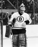 Gerry Cheevers, Boston Bruins Stockfotos