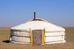 gers蒙古游牧人yurt 库存图片