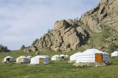 gers蒙古语 库存照片