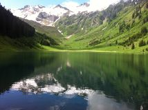 Gers. Lac - mountain - Samoens Royalty Free Stock Photography