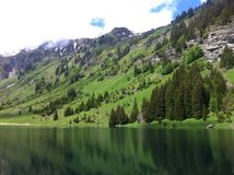 Gers. Lac - mountain - Samoens Royalty Free Stock Images