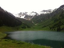 Gers. Lac - mountain - Samoens Royalty Free Stock Photos