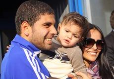 Gerson Magrao et son famille Photo libre de droits