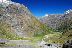 Gertrude valley, Fiordland National Park, New Zealand Stock Photography