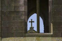 Geruïneerd kruis royalty-vrije stock afbeeldingen