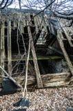 Geruïneerd oud huis Stock Afbeelding