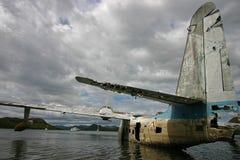Geruïneerd Overzees Vliegtuig Stock Foto's