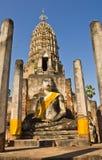Geruïneerde Boedha in Wat Phra Si Ratana Mahaphat, Si Satchanalai, Thailand Royalty-vrije Stock Foto