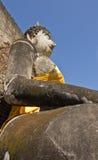 Geruïneerde Boedha in Wat Phra Si Ratana Mahaphat, Si Satchanalai, Thailand Royalty-vrije Stock Afbeeldingen