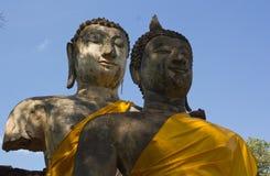 Geruïneerde Boedha in Wat Phra Si Ratana Mahaphat, Si Satchanalai, Thailand Stock Foto's