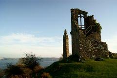 Geruïneerde dwaasheid bij het Park van Ondersteledgcumbe in Cornwall dichtbij Plymouth royalty-vrije stock afbeelding