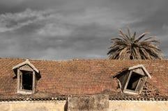 Geruïneerde gebouwen Royalty-vrije Stock Foto's