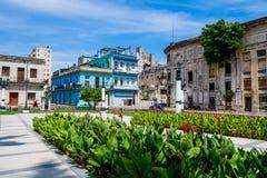 Geruïneerde Gebouwen van Havana royalty-vrije stock foto's