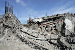 Geruïneerde gebouwen van ongeval Stock Fotografie