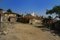 Geruïneerde huizen in Alfama (Lizobon) Royalty-vrije Stock Fotografie
