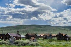 Geruïneerde Huizen in een Amerikaanse Spookstad Royalty-vrije Stock Fotografie