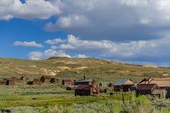 Geruïneerde Huizen in een Amerikaanse Spookstad Royalty-vrije Stock Afbeelding