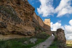 Geruïneerde kasteelmuur Stock Foto's