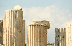 Geruïneerde kolommen Stock Afbeeldingen