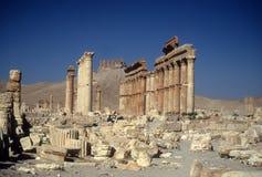 Geruïneerde kolommen, oude stad, Stock Foto