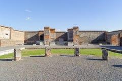 Geruïneerde marktplaats in Pompei Royalty-vrije Stock Foto