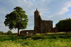 Geruïneerde middeleeuwse toren van Baconsthorpe-kasteel, Norfolk, het Verenigd Koninkrijk stock foto's