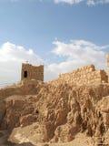 Geruïneerde muren van Masada royalty-vrije stock fotografie