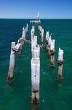 Geruïneerde Pier stock foto