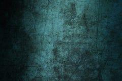 Geruïneerde samenvatting van de achtergrond de blauwe muurtextuur grunge gekrast Stock Fotografie