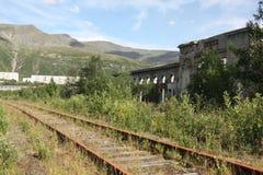 Geruïneerde spoorwegterminal Royalty-vrije Stock Fotografie
