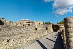 Geruïneerde straten Herculaneum Royalty-vrije Stock Afbeeldingen
