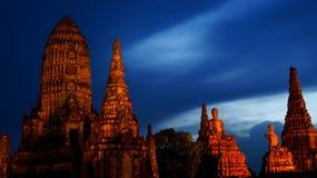 Geruïneerde tempel (Thailand) stock foto