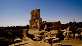 Geruïneerde Tempel van Amun in Umm ` Ubeida, Siwa, Egypte Stock Afbeelding