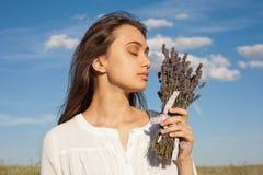 Geruch des Lavendels stockfoto