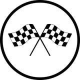 geruit het rennen vlaggen vectorsymbool Royalty-vrije Stock Fotografie
