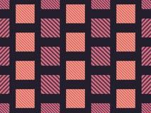 Geruit naadloos patroon met diagonale strepen voor stoffen en druk Vector royalty-vrije illustratie