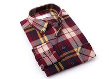 Geruit overhemd voor mensen Royalty-vrije Stock Foto's