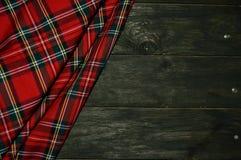 Geruit Schots wollen stof Stock Foto's