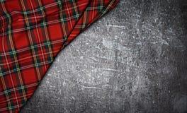 Geruit Schots wollen stof stock afbeelding