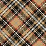 Geruit Schots wollen stof naadloos patroon, diagonale achtergrond beige vector illustratie
